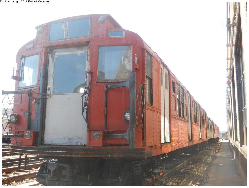 (235k, 1044x788)<br><b>Country:</b> United States<br><b>City:</b> New York<br><b>System:</b> New York City Transit<br><b>Location:</b> 207th Street Yard<br><b>Car:</b> R-1 (American Car & Foundry, 1930-1931) 103 <br><b>Photo by:</b> Robert Mencher<br><b>Date:</b> 3/27/2011<br><b>Viewed (this week/total):</b> 5 / 4011