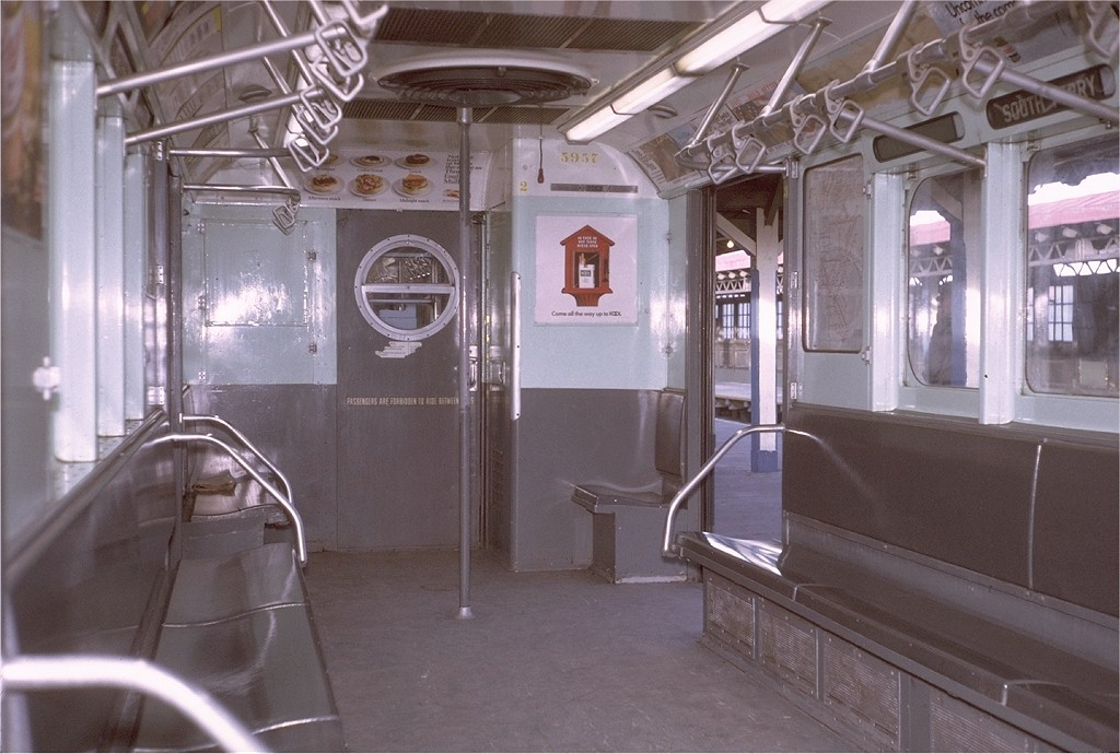(181k, 1024x690)<br><b>Country:</b> United States<br><b>City:</b> New York<br><b>System:</b> New York City Transit<br><b>Line:</b> IRT West Side Line<br><b>Location:</b> 242nd Street/Van Cortlandt Park<br><b>Car:</b> R-15 (American Car & Foundry, 1950) 5957 <br><b>Photo by:</b> Steve Zabel<br><b>Collection of:</b> Joe Testagrose<br><b>Date:</b> 1/31/1971<br><b>Viewed (this week/total):</b> 10 / 9541