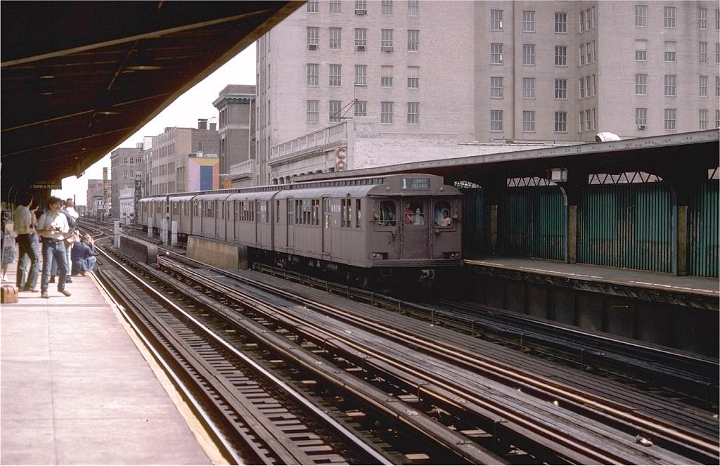 (221k, 1024x663)<br><b>Country:</b> United States<br><b>City:</b> New York<br><b>System:</b> New York City Transit<br><b>Line:</b> BMT Nassau Street-Jamaica Line<br><b>Location:</b> 160th Street (Demolished)<br><b>Route:</b> Fan Trip<br><b>Car:</b> BMT D-Type Triplex 6019 <br><b>Photo by:</b> Doug Grotjahn<br><b>Collection of:</b> Joe Testagrose<br><b>Date:</b> 9/11/1977<br><b>Viewed (this week/total):</b> 4 / 6549