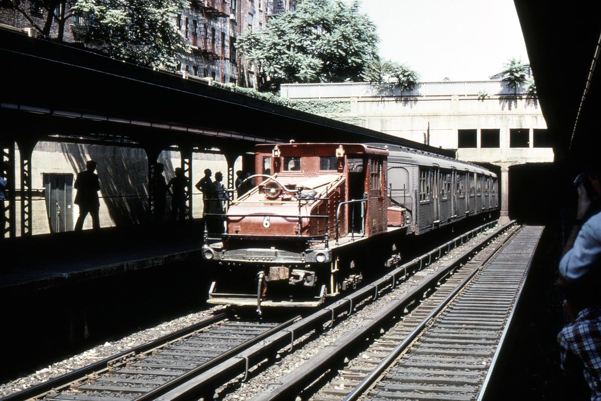 (564k, 1200x800)<br><b>Country:</b> United States<br><b>City:</b> New York<br><b>System:</b> New York City Transit<br><b>Line:</b> BMT Brighton Line<br><b>Location:</b> Prospect Park<br><b>Route:</b> Fan Trip<br><b>Car:</b> SBK Steeplecab 6 <br><b>Photo by:</b> Joe Testagrose<br><b>Collection of:</b> David Pirmann<br><b>Date:</b> 8/23/1969<br><b>Viewed (this week/total):</b> 1 / 4532