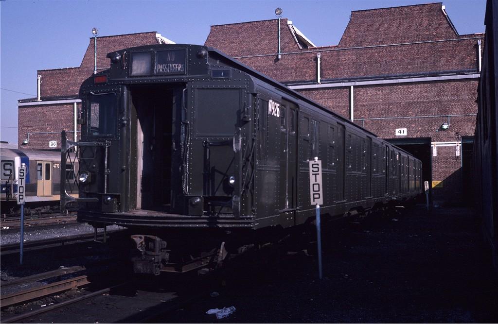 (184k, 1024x667)<br><b>Country:</b> United States<br><b>City:</b> New York<br><b>System:</b> New York City Transit<br><b>Location:</b> Coney Island Yard<br><b>Car:</b> R-6-3 (American Car & Foundry, 1935) 925 (ex-R708)<br><b>Photo by:</b> Steve Zabel<br><b>Collection of:</b> Joe Testagrose<br><b>Date:</b> 8/31/1979<br><b>Viewed (this week/total):</b> 3 / 1308