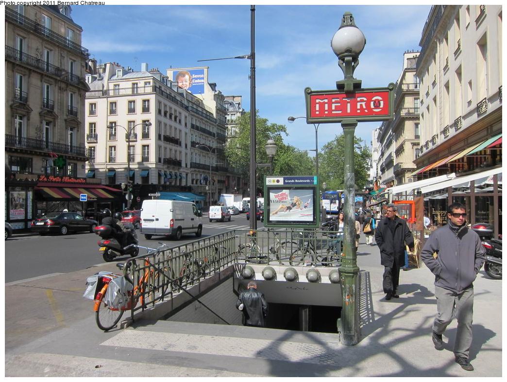 (378k, 1044x788)<br><b>Country:</b> France<br><b>City:</b> Paris<br><b>System:</b> RATP (Régie Autonome des Transports Parisiens)<br><b>Line:</b> Metro Ligne 8<br><b>Location:</b> Grands Boulevards<br><b>Photo by:</b> Bernard Chatreau<br><b>Date:</b> 5/5/2010<br><b>Viewed (this week/total):</b> 1 / 462