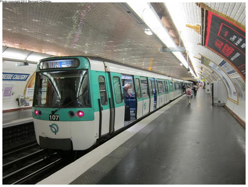 (309k, 1044x788)<br><b>Country:</b> France<br><b>City:</b> Paris<br><b>System:</b> RATP (Régie Autonome des Transports Parisiens)<br><b>Line:</b> Metro Ligne 8<br><b>Location:</b> Faidherbe-Chaligny<br><b>Car:</b> MF77 30213 <br><b>Photo by:</b> Bernard Chatreau<br><b>Date:</b> 6/11/2010<br><b>Viewed (this week/total):</b> 0 / 512