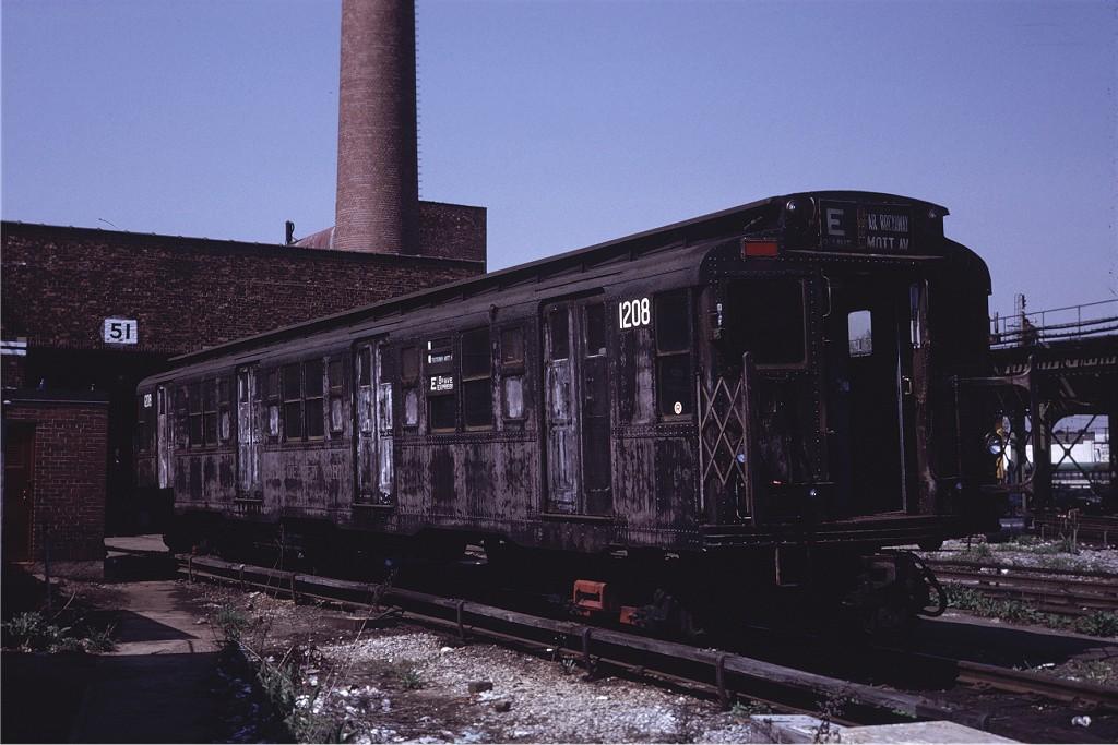 (174k, 1024x683)<br><b>Country:</b> United States<br><b>City:</b> New York<br><b>System:</b> New York City Transit<br><b>Location:</b> Coney Island Yard<br><b>Car:</b> R-6-2 (Pullman, 1936) 1208 <br><b>Photo by:</b> Steve Zabel<br><b>Collection of:</b> Joe Testagrose<br><b>Date:</b> 5/18/1971<br><b>Viewed (this week/total):</b> 2 / 3132