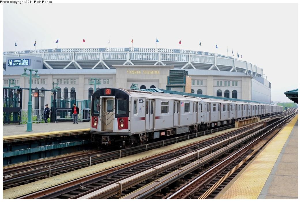 (273k, 1044x703)<br><b>Country:</b> United States<br><b>City:</b> New York<br><b>System:</b> New York City Transit<br><b>Line:</b> IRT Woodlawn Line<br><b>Location:</b> 161st Street-River Avenue (Yankee Stadium)<br><b>Route:</b> 4<br><b>Car:</b> R-142A (Option Order, Kawasaki, 2002-2003) 7716 <br><b>Photo by:</b> Richard Panse<br><b>Date:</b> 5/22/2011<br><b>Viewed (this week/total):</b> 0 / 1801