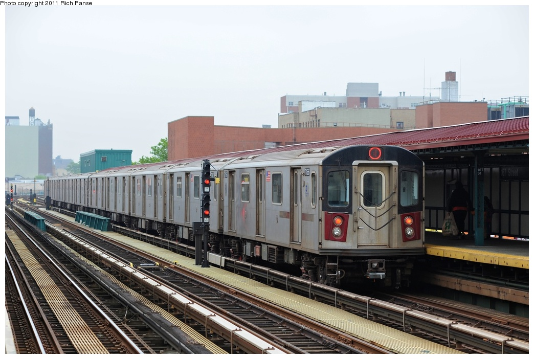 (252k, 1044x702)<br><b>Country:</b> United States<br><b>City:</b> New York<br><b>System:</b> New York City Transit<br><b>Line:</b> IRT Woodlawn Line<br><b>Location:</b> 167th Street<br><b>Route:</b> 4<br><b>Car:</b> R-142 (Option Order, Bombardier, 2002-2003) 7166 <br><b>Photo by:</b> Richard Panse<br><b>Date:</b> 5/22/2011<br><b>Viewed (this week/total):</b> 0 / 1520