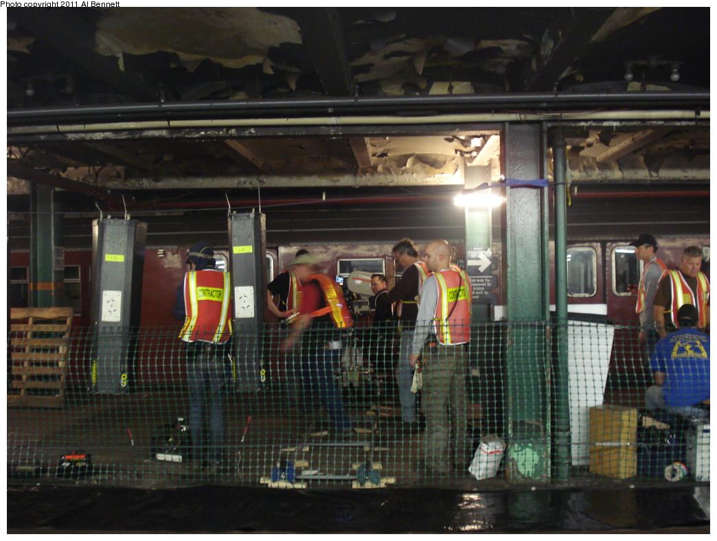 (238k, 1044x788)<br><b>Country:</b> United States<br><b>City:</b> New York<br><b>System:</b> New York City Transit<br><b>Line:</b> IND Fulton Street Line<br><b>Location:</b> Hoyt-Schermerhorn Street<br><b>Photo by:</b> Al Bennett, Jr.<br><b>Date:</b> 5/19/2008<br><b>Notes:</b> Taking of Pelham 1-2-3 (remake) movie shoot.<br><b>Viewed (this week/total):</b> 2 / 1774