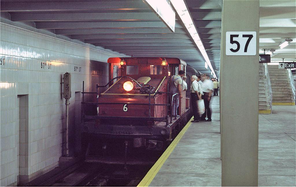 (235k, 1024x649)<br><b>Country:</b> United States<br><b>City:</b> New York<br><b>System:</b> New York City Transit<br><b>Line:</b> IND 6th Avenue Line<br><b>Location:</b> 57th Street<br><b>Route:</b> Fan Trip<br><b>Car:</b> SBK Steeplecab 6 <br><b>Photo by:</b> Joe Testagrose<br><b>Date:</b> 8/23/1969<br><b>Viewed (this week/total):</b> 0 / 1940