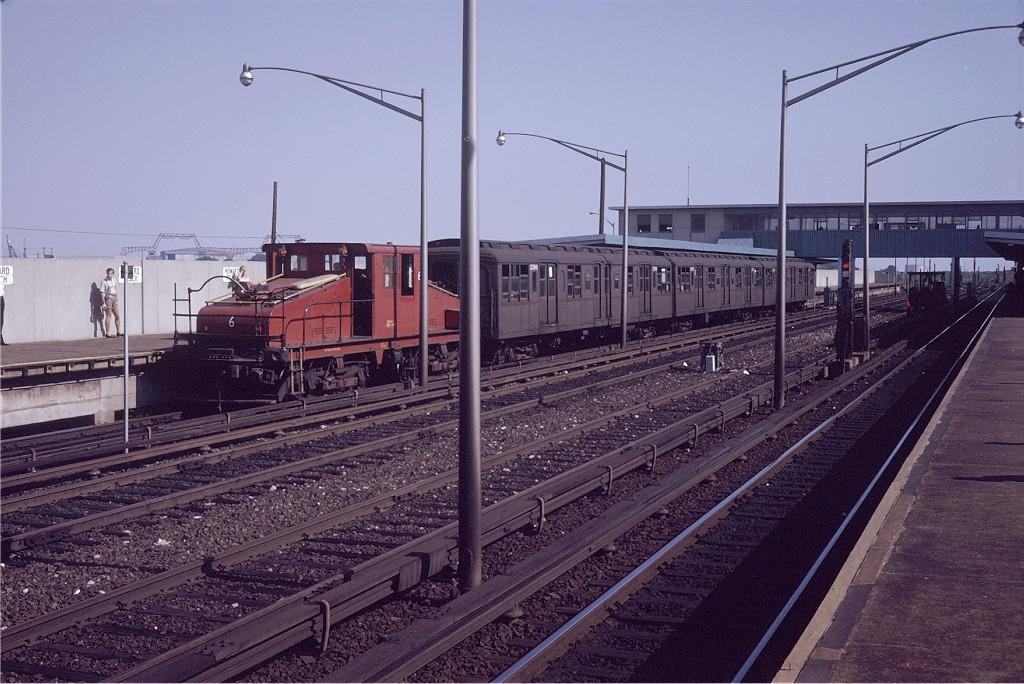(218k, 1024x684)<br><b>Country:</b> United States<br><b>City:</b> New York<br><b>System:</b> New York City Transit<br><b>Line:</b> IND Rockaway Line<br><b>Location:</b> Howard Beach/JFK Airport<br><b>Route:</b> Fan Trip<br><b>Car:</b> SBK Steeplecab 6 <br><b>Photo by:</b> Steve Zabel<br><b>Collection of:</b> Joe Testagrose<br><b>Date:</b> 8/23/1969<br><b>Viewed (this week/total):</b> 2 / 1819