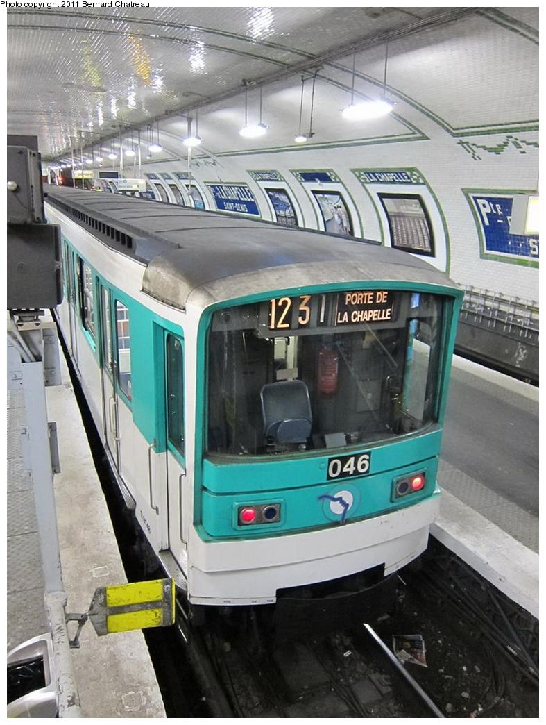 (319k, 787x1044)<br><b>Country:</b> France<br><b>City:</b> Paris<br><b>System:</b> RATP (Régie Autonome des Transports Parisiens)<br><b>Line:</b> Metro Ligne 12<br><b>Location:</b> Porte de la Chapelle<br><b>Car:</b> MF67 9148 <br><b>Photo by:</b> Bernard Chatreau<br><b>Date:</b> 5/5/2010<br><b>Viewed (this week/total):</b> 0 / 438