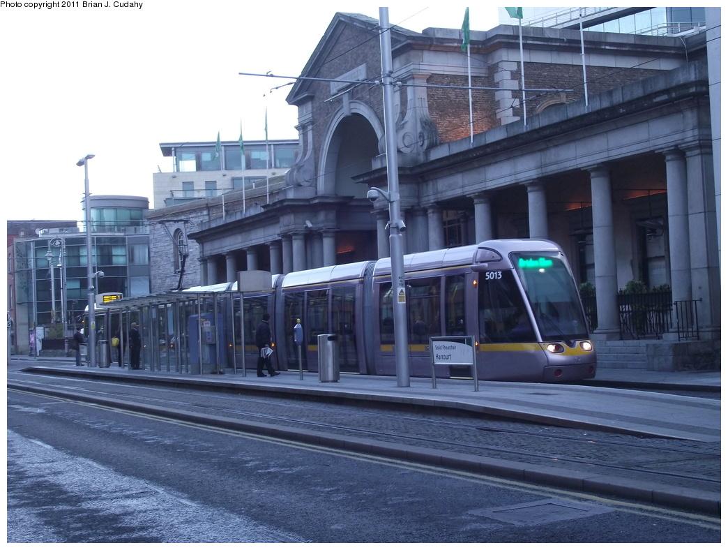 (305k, 1044x788)<br><b>Country:</b> Ireland<br><b>City:</b> Dublin<br><b>System:</b> LUAS<br><b>Line:</b> LUAS Green Line<br><b>Location:</b> Harcourt<br><b>Car:</b> Alstom/Citadis 5013 <br><b>Photo by:</b> Brian J. Cudahy<br><b>Date:</b> 5/5/2010<br><b>Viewed (this week/total):</b> 0 / 693