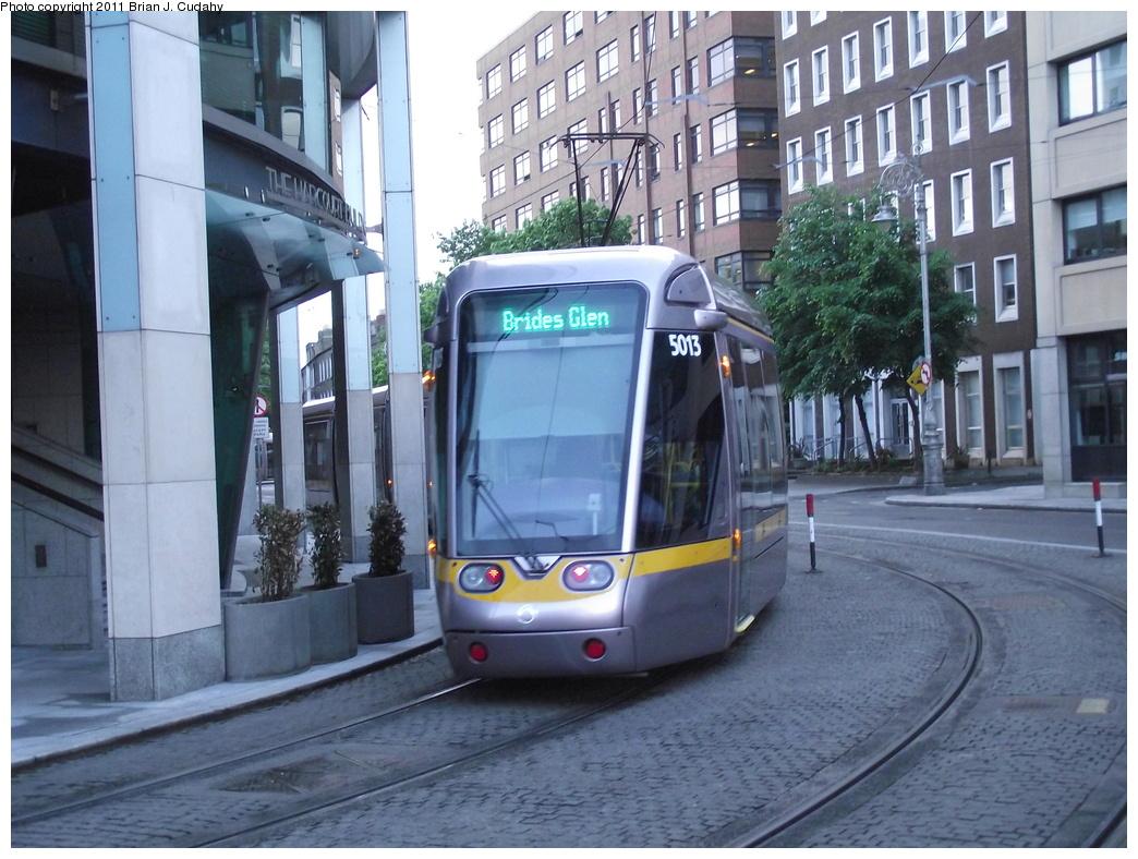 (326k, 1044x788)<br><b>Country:</b> Ireland<br><b>City:</b> Dublin<br><b>System:</b> LUAS<br><b>Line:</b> LUAS Green Line<br><b>Location:</b> Harcourt<br><b>Car:</b> Alstom/Citadis 5013 <br><b>Photo by:</b> Brian J. Cudahy<br><b>Date:</b> 5/5/2010<br><b>Viewed (this week/total):</b> 1 / 793