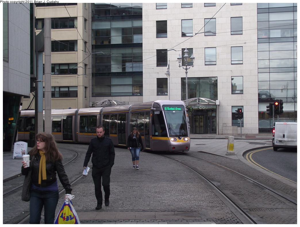 (325k, 1044x788)<br><b>Country:</b> Ireland<br><b>City:</b> Dublin<br><b>System:</b> LUAS<br><b>Line:</b> LUAS Green Line<br><b>Location:</b> Harcourt<br><b>Car:</b> Alstom/Citadis 5003 <br><b>Photo by:</b> Brian J. Cudahy<br><b>Date:</b> 5/5/2010<br><b>Viewed (this week/total):</b> 1 / 685