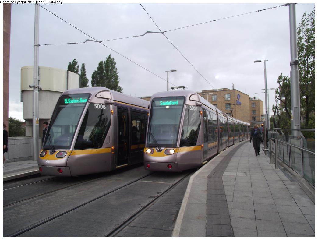 (252k, 1044x788)<br><b>Country:</b> Ireland<br><b>City:</b> Dublin<br><b>System:</b> LUAS<br><b>Line:</b> LUAS Green Line<br><b>Location:</b> Charlemont<br><b>Car:</b> Alstom/Citadis 5006/5007 <br><b>Photo by:</b> Brian J. Cudahy<br><b>Date:</b> 5/5/2010<br><b>Viewed (this week/total):</b> 1 / 750