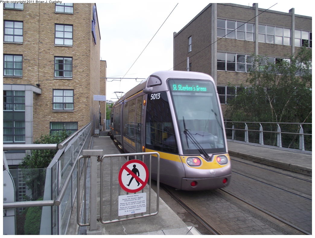 (338k, 1044x788)<br><b>Country:</b> Ireland<br><b>City:</b> Dublin<br><b>System:</b> LUAS<br><b>Line:</b> LUAS Green Line<br><b>Location:</b> Charlemont<br><b>Car:</b> Alstom/Citadis 5013 <br><b>Photo by:</b> Brian J. Cudahy<br><b>Date:</b> 5/5/2010<br><b>Viewed (this week/total):</b> 0 / 727