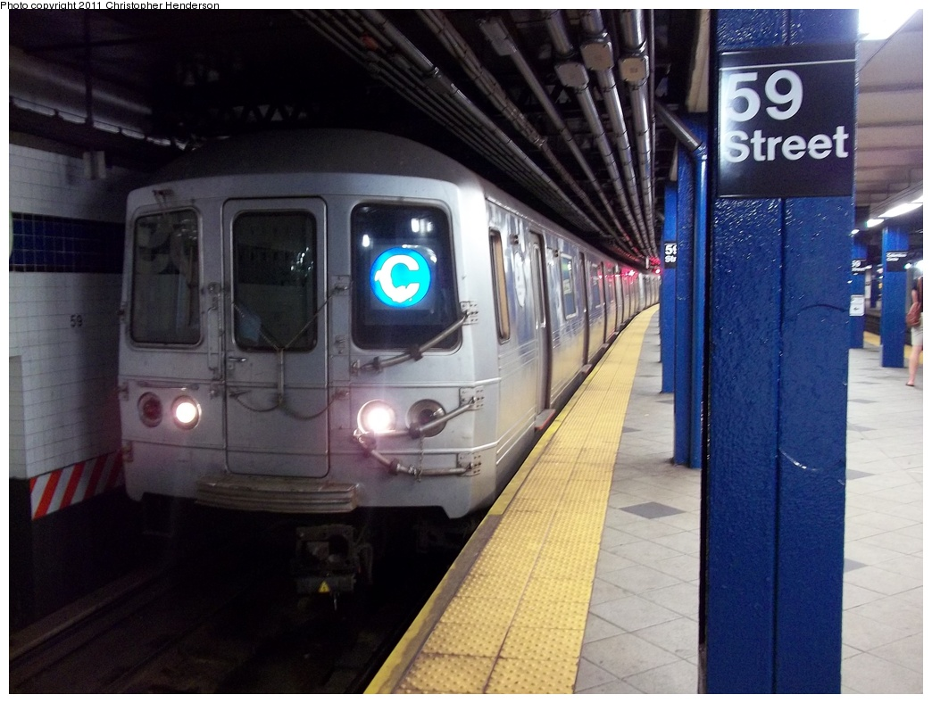 (310k, 1044x788)<br><b>Country:</b> United States<br><b>City:</b> New York<br><b>System:</b> New York City Transit<br><b>Line:</b> IND 8th Avenue Line<br><b>Location:</b> 59th Street/Columbus Circle<br><b>Route:</b> C<br><b>Car:</b> R-46 (Pullman-Standard, 1974-75)  <br><b>Photo by:</b> Christopher Henderson<br><b>Date:</b> 7/22/2011<br><b>Viewed (this week/total):</b> 8 / 2571