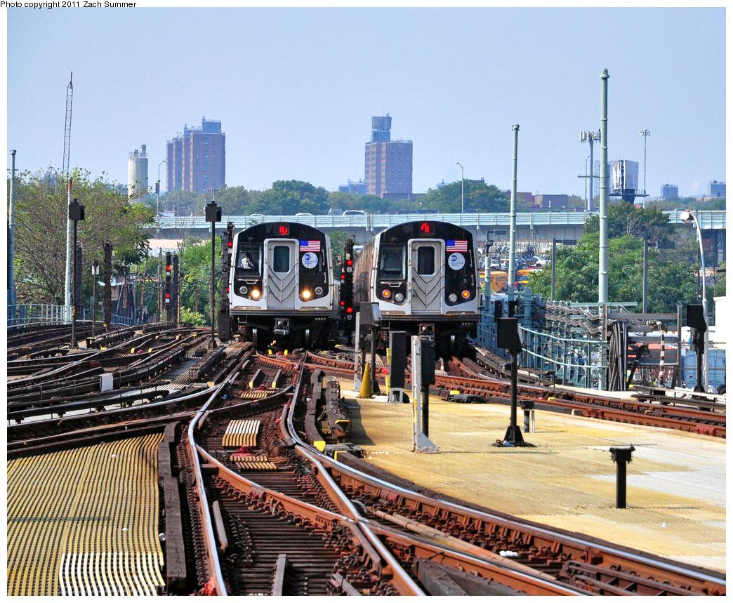 (591k, 1044x859)<br><b>Country:</b> United States<br><b>City:</b> New York<br><b>System:</b> New York City Transit<br><b>Location:</b> Coney Island/Stillwell Avenue<br><b>Route:</b> N<br><b>Car:</b> R-160B (Option 1) (Kawasaki, 2008-2009) 9152 <br><b>Photo by:</b> Zach Summer<br><b>Date:</b> 7/22/2011<br><b>Viewed (this week/total):</b> 1 / 1527