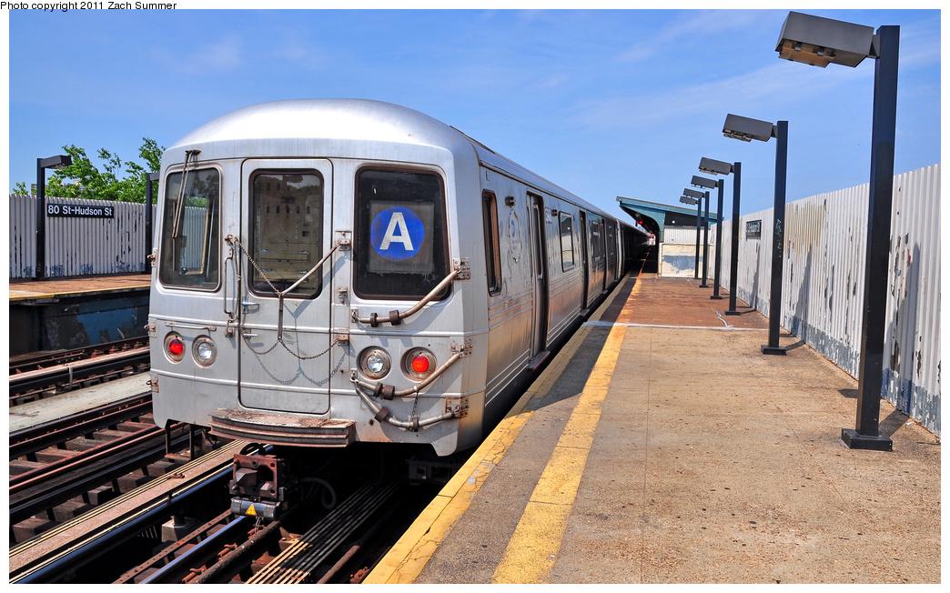 (396k, 1044x652)<br><b>Country:</b> United States<br><b>City:</b> New York<br><b>System:</b> New York City Transit<br><b>Line:</b> IND Fulton Street Line<br><b>Location:</b> 80th Street-Hudson Street<br><b>Route:</b> A<br><b>Car:</b> R-46 (Pullman-Standard, 1974-75) 5908 <br><b>Photo by:</b> Zach Summer<br><b>Date:</b> 7/23/2011<br><b>Viewed (this week/total):</b> 1 / 1573