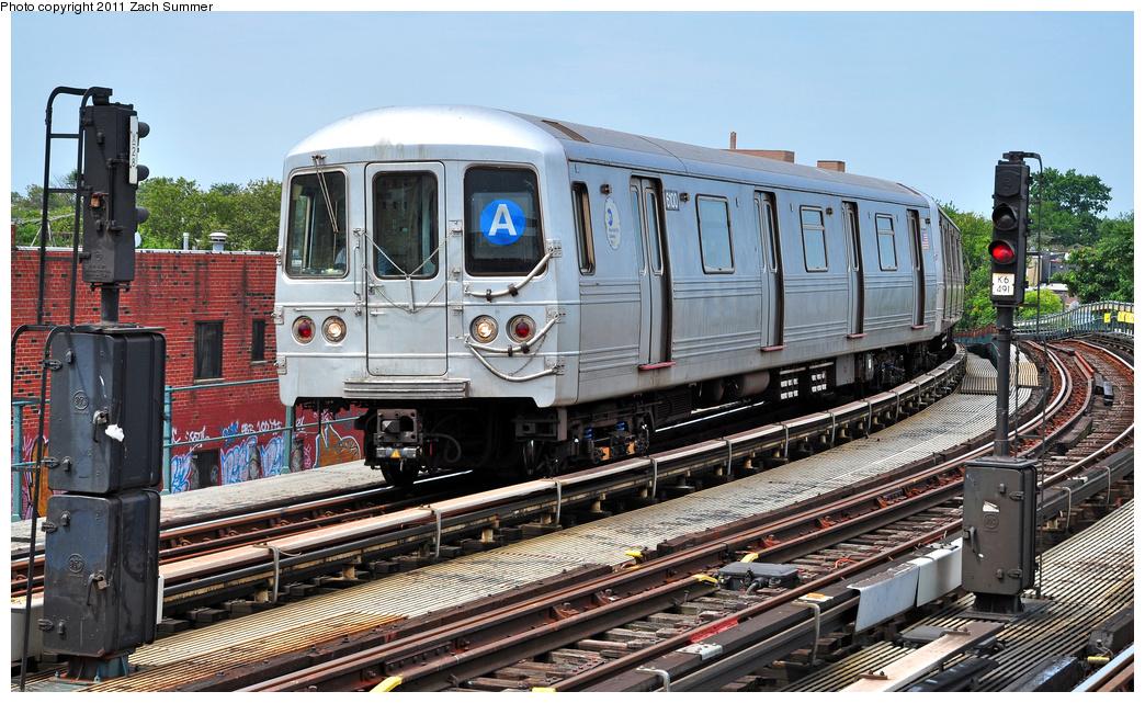 (419k, 1044x641)<br><b>Country:</b> United States<br><b>City:</b> New York<br><b>System:</b> New York City Transit<br><b>Line:</b> IND Fulton Street Line<br><b>Location:</b> 80th Street-Hudson Street<br><b>Route:</b> A<br><b>Car:</b> R-46 (Pullman-Standard, 1974-75) 6100 <br><b>Photo by:</b> Zach Summer<br><b>Date:</b> 7/23/2011<br><b>Viewed (this week/total):</b> 0 / 1189