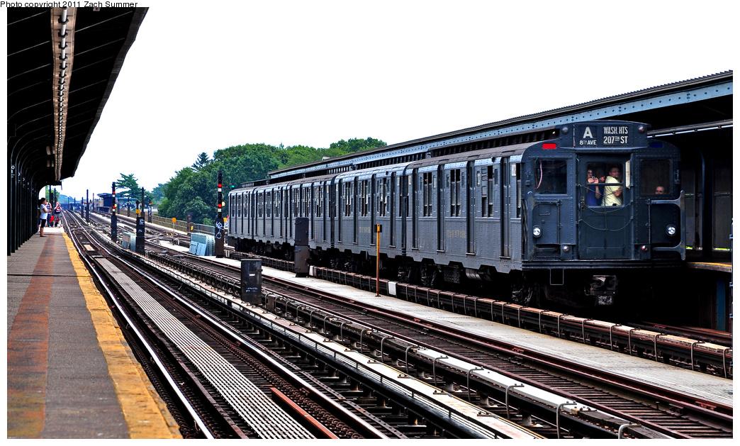 (380k, 1044x629)<br><b>Country:</b> United States<br><b>City:</b> New York<br><b>System:</b> New York City Transit<br><b>Line:</b> IND Fulton Street Line<br><b>Location:</b> 80th Street-Hudson Street<br><b>Route:</b> Transit Museum Nostalgia Train<br><b>Car:</b> R-9 (Pressed Steel, 1940) 1802 <br><b>Photo by:</b> Zach Summer<br><b>Date:</b> 7/23/2011<br><b>Viewed (this week/total):</b> 1 / 1343