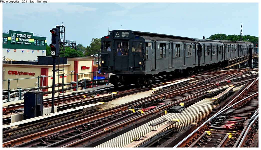 (414k, 1044x602)<br><b>Country:</b> United States<br><b>City:</b> New York<br><b>System:</b> New York City Transit<br><b>Line:</b> IND Fulton Street Line<br><b>Location:</b> Rockaway Boulevard<br><b>Route:</b> Transit Museum Nostalgia Train<br><b>Car:</b> R-9 (Pressed Steel, 1940) 1802 <br><b>Photo by:</b> Zach Summer<br><b>Date:</b> 7/23/2011<br><b>Viewed (this week/total):</b> 0 / 1311