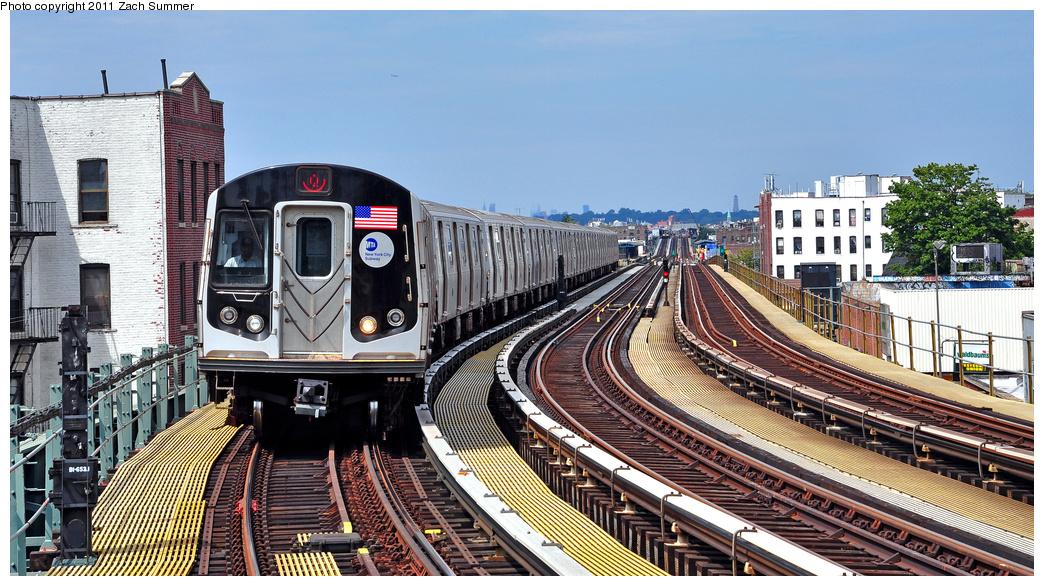 (412k, 1044x586)<br><b>Country:</b> United States<br><b>City:</b> New York<br><b>System:</b> New York City Transit<br><b>Line:</b> BMT West End Line<br><b>Location:</b> 18th Avenue<br><b>Route:</b> Q Reroute<br><b>Car:</b> R-160B (Kawasaki, 2005-2008) 8782 <br><b>Photo by:</b> Zach Summer<br><b>Date:</b> 7/23/2011<br><b>Viewed (this week/total):</b> 0 / 1639