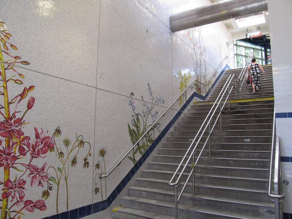 (146k, 1024x768)<br><b>Country:</b> United States<br><b>City:</b> New York<br><b>System:</b> New York City Transit<br><b>Line:</b> BMT Brighton Line<br><b>Location:</b> Avenue U<br><b>Photo by:</b> Robbie Rosenfeld<br><b>Date:</b> 7/12/2011<br><b>Artwork:</b> <i>Brooklyn Seeds</i>, Jason Middlebrook, 2011<br><b>Viewed (this week/total):</b> 5 / 3161
