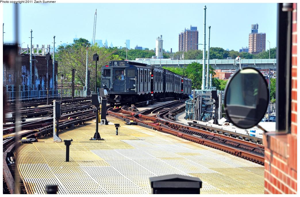 (500k, 1044x687)<br><b>Country:</b> United States<br><b>City:</b> New York<br><b>System:</b> New York City Transit<br><b>Location:</b> Coney Island/Stillwell Avenue<br><b>Route:</b> Transit Museum Nostalgia Train<br><b>Car:</b> R-9 (Pressed Steel, 1940) 1802 <br><b>Photo by:</b> Zach Summer<br><b>Date:</b> 7/23/2011<br><b>Viewed (this week/total):</b> 1 / 1614
