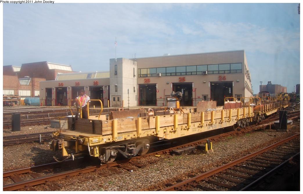 (294k, 1044x671)<br><b>Country:</b> United States<br><b>City:</b> New York<br><b>System:</b> New York City Transit<br><b>Location:</b> Coney Island Yard<br><b>Route:</b> Work Service<br><b>Car:</b> Flat Car 624 <br><b>Photo by:</b> John Dooley<br><b>Date:</b> 7/23/2011<br><b>Viewed (this week/total):</b> 1 / 1268