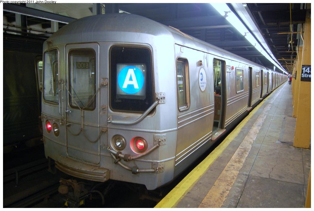 (281k, 1044x700)<br><b>Country:</b> United States<br><b>City:</b> New York<br><b>System:</b> New York City Transit<br><b>Line:</b> IND 8th Avenue Line<br><b>Location:</b> 145th Street<br><b>Route:</b> A<br><b>Car:</b> R-46 (Pullman-Standard, 1974-75) 5902 <br><b>Photo by:</b> John Dooley<br><b>Date:</b> 8/15/2011<br><b>Viewed (this week/total):</b> 1 / 2134