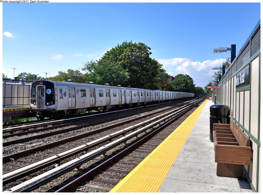 (464k, 1044x774)<br><b>Country:</b> United States<br><b>City:</b> New York<br><b>System:</b> New York City Transit<br><b>Line:</b> BMT Brighton Line<br><b>Location:</b> Neck Road<br><b>Route:</b> Q<br><b>Car:</b> R-160B (Kawasaki, 2005-2008) 8772 <br><b>Photo by:</b> Zach Summer<br><b>Date:</b> 8/4/2011<br><b>Viewed (this week/total):</b> 0 / 1831