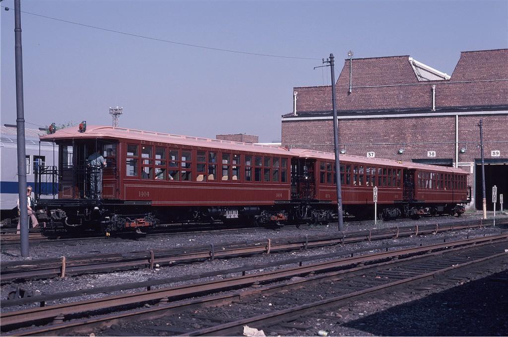 (221k, 1024x679)<br><b>Country:</b> United States<br><b>City:</b> New York<br><b>System:</b> New York City Transit<br><b>Location:</b> Coney Island Yard<br><b>Car:</b> BMT Elevated Gate Car 1404-1273-1407 <br><b>Photo by:</b> Steve Zabel<br><b>Collection of:</b> Joe Testagrose<br><b>Date:</b> 8/31/1979<br><b>Viewed (this week/total):</b> 3 / 801