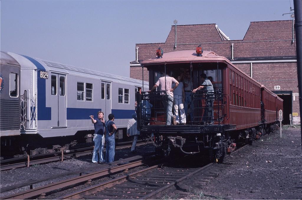 (219k, 1024x679)<br><b>Country:</b> United States<br><b>City:</b> New York<br><b>System:</b> New York City Transit<br><b>Location:</b> Coney Island Yard<br><b>Car:</b> BMT Elevated Gate Car 1404-1273-1407 <br><b>Photo by:</b> Steve Zabel<br><b>Collection of:</b> Joe Testagrose<br><b>Date:</b> 8/31/1979<br><b>Viewed (this week/total):</b> 2 / 1191