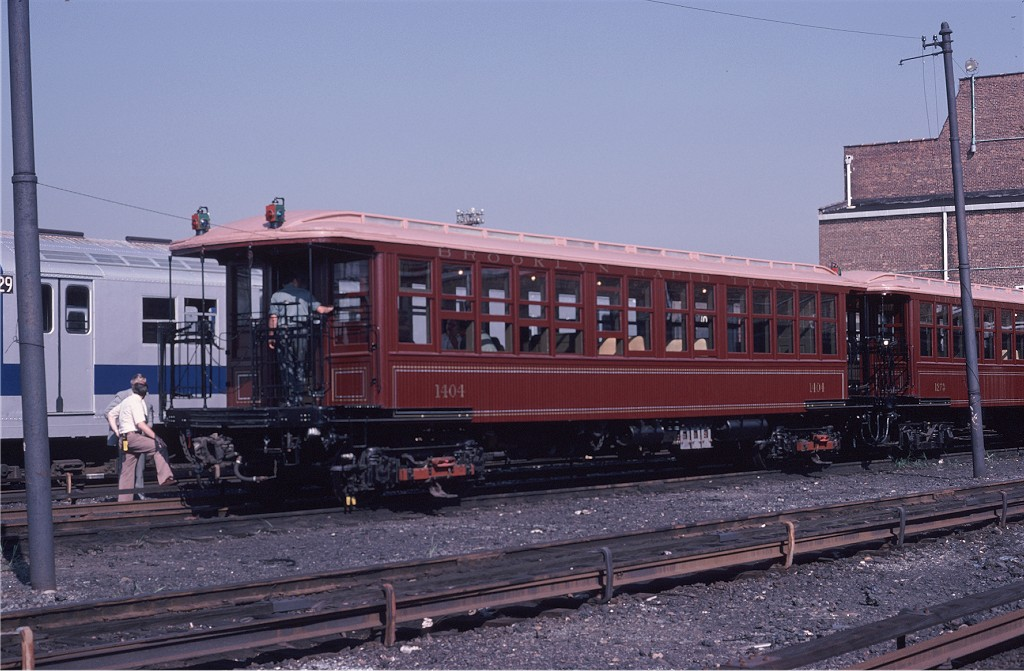 (184k, 1024x671)<br><b>Country:</b> United States<br><b>City:</b> New York<br><b>System:</b> New York City Transit<br><b>Location:</b> Coney Island Yard<br><b>Car:</b> BMT Elevated Gate Car 1404 <br><b>Photo by:</b> Steve Zabel<br><b>Collection of:</b> Joe Testagrose<br><b>Date:</b> 8/31/1979<br><b>Viewed (this week/total):</b> 2 / 799