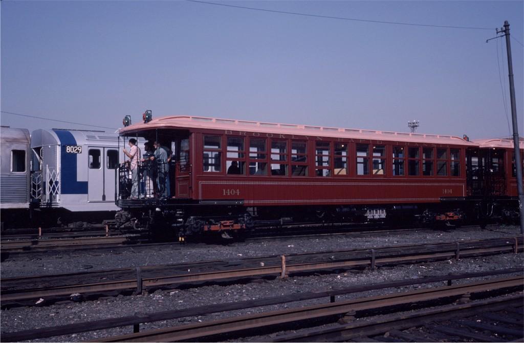 (153k, 1024x671)<br><b>Country:</b> United States<br><b>City:</b> New York<br><b>System:</b> New York City Transit<br><b>Location:</b> Coney Island Yard<br><b>Car:</b> BMT Elevated Gate Car 1404 <br><b>Photo by:</b> Steve Zabel<br><b>Collection of:</b> Joe Testagrose<br><b>Date:</b> 8/31/1979<br><b>Viewed (this week/total):</b> 0 / 824