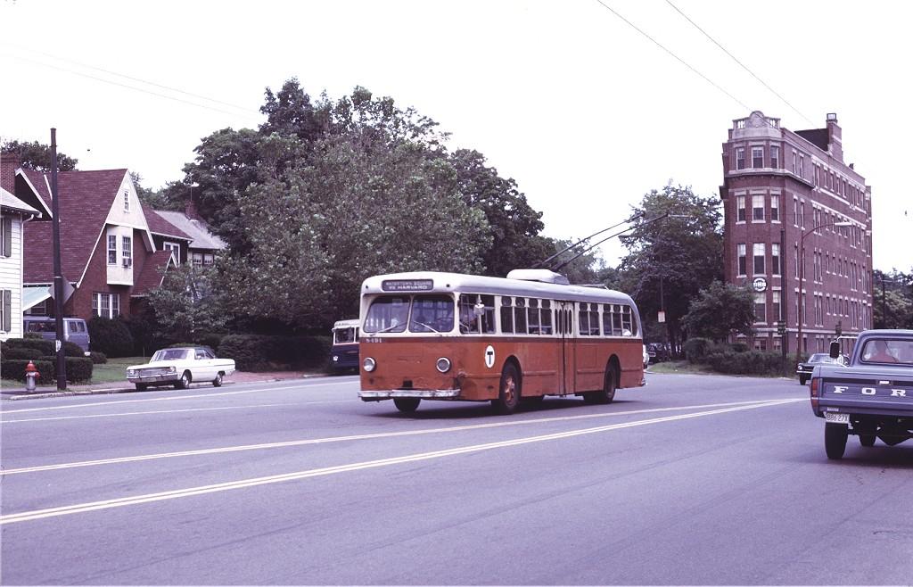 (185k, 1024x658)<br><b>Country:</b> United States<br><b>City:</b> Boston, MA<br><b>System:</b> MBTA Boston<br><b>Line:</b> MBTA Trolleybus (71,72,73)<br><b>Location:</b> Watertown Square (71)<br><b>Car:</b> MBTA Trolleybus 8491 <br><b>Photo by:</b> Joe Testagrose<br><b>Date:</b> 7/6/1972<br><b>Viewed (this week/total):</b> 1 / 760