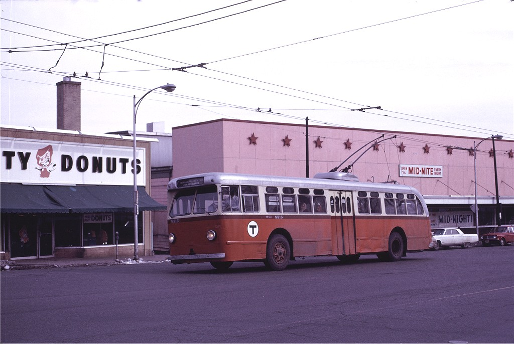 (164k, 1024x686)<br><b>Country:</b> United States<br><b>City:</b> Boston, MA<br><b>System:</b> MBTA Boston<br><b>Line:</b> MBTA Trolleybus (71,72,73)<br><b>Location:</b> Mt. Auburn St./Belmont St. (71)<br><b>Car:</b> MBTA Trolleybus 8515 <br><b>Photo by:</b> Joe Testagrose<br><b>Date:</b> 3/6/1971<br><b>Viewed (this week/total):</b> 3 / 598