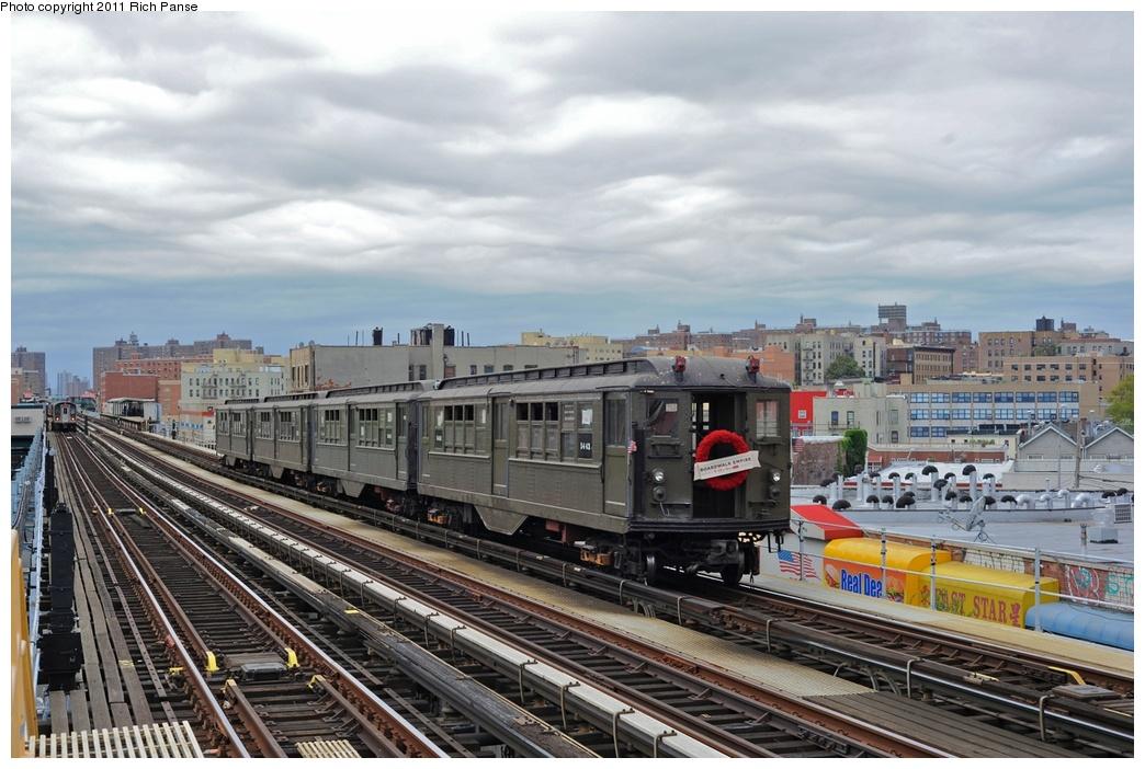 (277k, 1044x702)<br><b>Country:</b> United States<br><b>City:</b> New York<br><b>System:</b> New York City Transit<br><b>Line:</b> IRT White Plains Road Line<br><b>Location:</b> Simpson Street<br><b>Route:</b> Fan Trip<br><b>Car:</b> Low-V (Museum Train) 5443 <br><b>Photo by:</b> Richard Panse<br><b>Date:</b> 9/11/2011<br><b>Notes:</b> <I>Boardwalk Empire</i> promotional service.<br><b>Viewed (this week/total):</b> 0 / 1496
