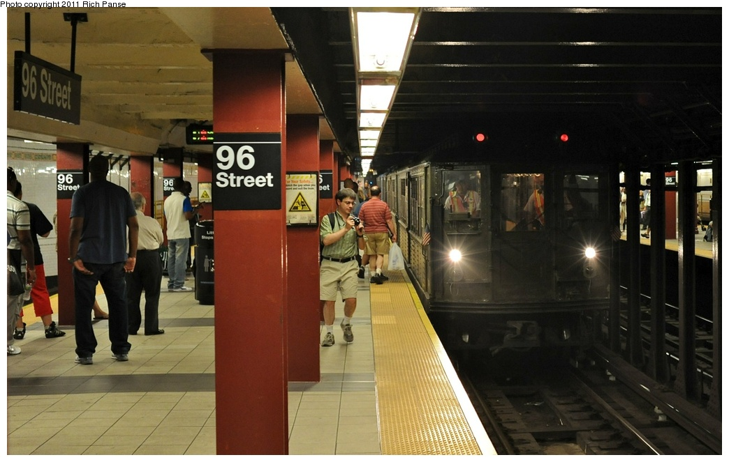 (230k, 1044x663)<br><b>Country:</b> United States<br><b>City:</b> New York<br><b>System:</b> New York City Transit<br><b>Line:</b> IRT West Side Line<br><b>Location:</b> 96th Street<br><b>Route:</b> Fan Trip<br><b>Car:</b> Low-V (Museum Train) 5292 <br><b>Photo by:</b> Richard Panse<br><b>Date:</b> 9/11/2011<br><b>Notes:</b> <I>Boardwalk Empire</i> promotional service.<br><b>Viewed (this week/total):</b> 0 / 1636