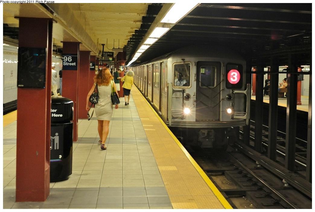 (241k, 1044x703)<br><b>Country:</b> United States<br><b>City:</b> New York<br><b>System:</b> New York City Transit<br><b>Line:</b> IRT West Side Line<br><b>Location:</b> 96th Street<br><b>Route:</b> 3<br><b>Car:</b> R-62 (Kawasaki, 1983-1985)  <br><b>Photo by:</b> Richard Panse<br><b>Date:</b> 9/11/2011<br><b>Viewed (this week/total):</b> 3 / 2113