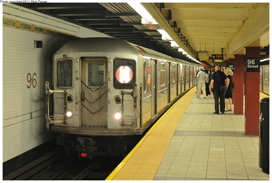 (251k, 1044x703)<br><b>Country:</b> United States<br><b>City:</b> New York<br><b>System:</b> New York City Transit<br><b>Line:</b> IRT West Side Line<br><b>Location:</b> 96th Street<br><b>Route:</b> 1<br><b>Car:</b> R-62A (Bombardier, 1984-1987) 2291 <br><b>Photo by:</b> Richard Panse<br><b>Date:</b> 9/11/2011<br><b>Viewed (this week/total):</b> 1 / 2015