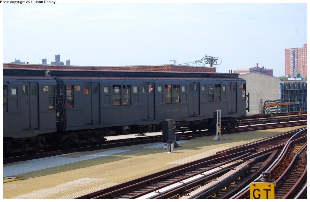 (267k, 1044x681)<br><b>Country:</b> United States<br><b>City:</b> New York<br><b>System:</b> New York City Transit<br><b>Location:</b> Coney Island/Stillwell Avenue<br><b>Route:</b> Fan Trip<br><b>Car:</b> R-1 (American Car & Foundry, 1930-1931) 381 <br><b>Photo by:</b> John Dooley<br><b>Date:</b> 7/23/2011<br><b>Viewed (this week/total):</b> 1 / 1453