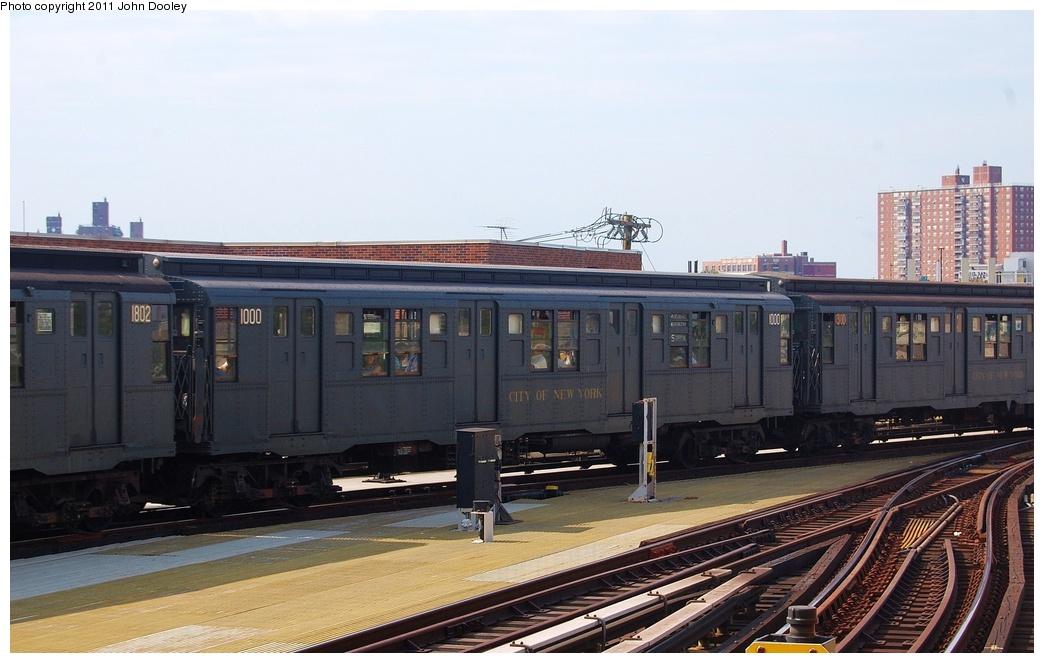 (275k, 1044x663)<br><b>Country:</b> United States<br><b>City:</b> New York<br><b>System:</b> New York City Transit<br><b>Location:</b> Coney Island/Stillwell Avenue<br><b>Route:</b> Fan Trip<br><b>Car:</b> R-6-3 (American Car & Foundry, 1935) 1000 <br><b>Photo by:</b> John Dooley<br><b>Date:</b> 7/23/2011<br><b>Viewed (this week/total):</b> 0 / 2022