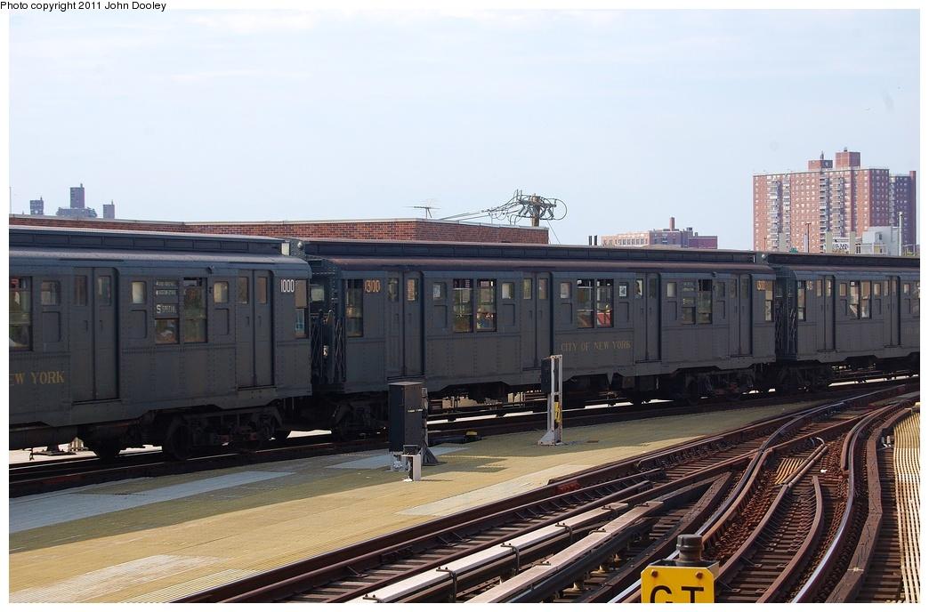 (292k, 1044x688)<br><b>Country:</b> United States<br><b>City:</b> New York<br><b>System:</b> New York City Transit<br><b>Location:</b> Coney Island/Stillwell Avenue<br><b>Route:</b> Fan Trip<br><b>Car:</b> R-6-1 (Pressed Steel, 1936) 1300 <br><b>Photo by:</b> John Dooley<br><b>Date:</b> 7/23/2011<br><b>Viewed (this week/total):</b> 0 / 1314