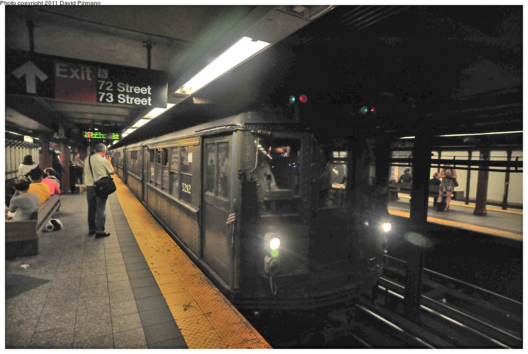 (250k, 1044x701)<br><b>Country:</b> United States<br><b>City:</b> New York<br><b>System:</b> New York City Transit<br><b>Line:</b> IRT West Side Line<br><b>Location:</b> 72nd Street<br><b>Route:</b> Fan Trip<br><b>Car:</b> Low-V (Museum Train) 5292 <br><b>Photo by:</b> David Pirmann<br><b>Date:</b> 9/24/2011<br><b>Notes:</b> HBO Boardwalk Empire promotional service.<br><b>Viewed (this week/total):</b> 2 / 1649