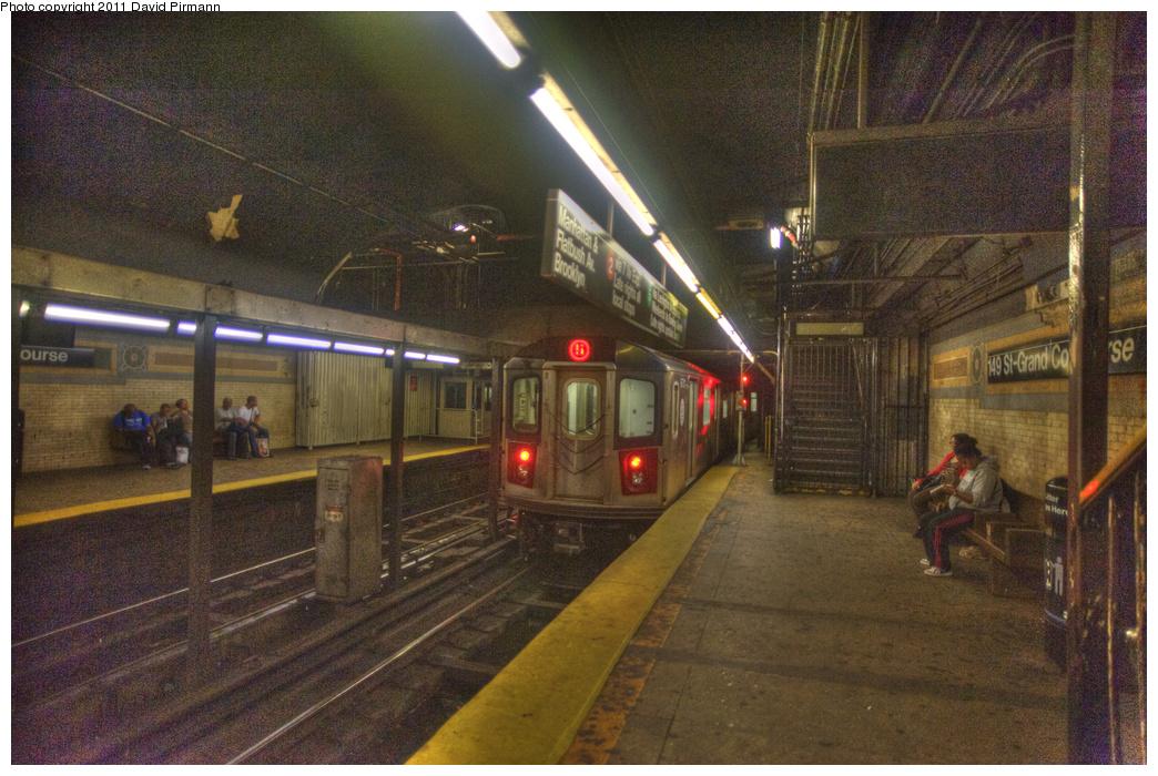 (381k, 1044x700)<br><b>Country:</b> United States<br><b>City:</b> New York<br><b>System:</b> New York City Transit<br><b>Line:</b> IRT White Plains Road Line<br><b>Location:</b> 149th Street/Grand Concourse (Mott Avenue)<br><b>Route:</b> 2<br><b>Car:</b> R-142 (Primary Order, Bombardier, 1999-2002) 6701 <br><b>Photo by:</b> David Pirmann<br><b>Date:</b> 9/24/2011<br><b>Viewed (this week/total):</b> 1 / 2965