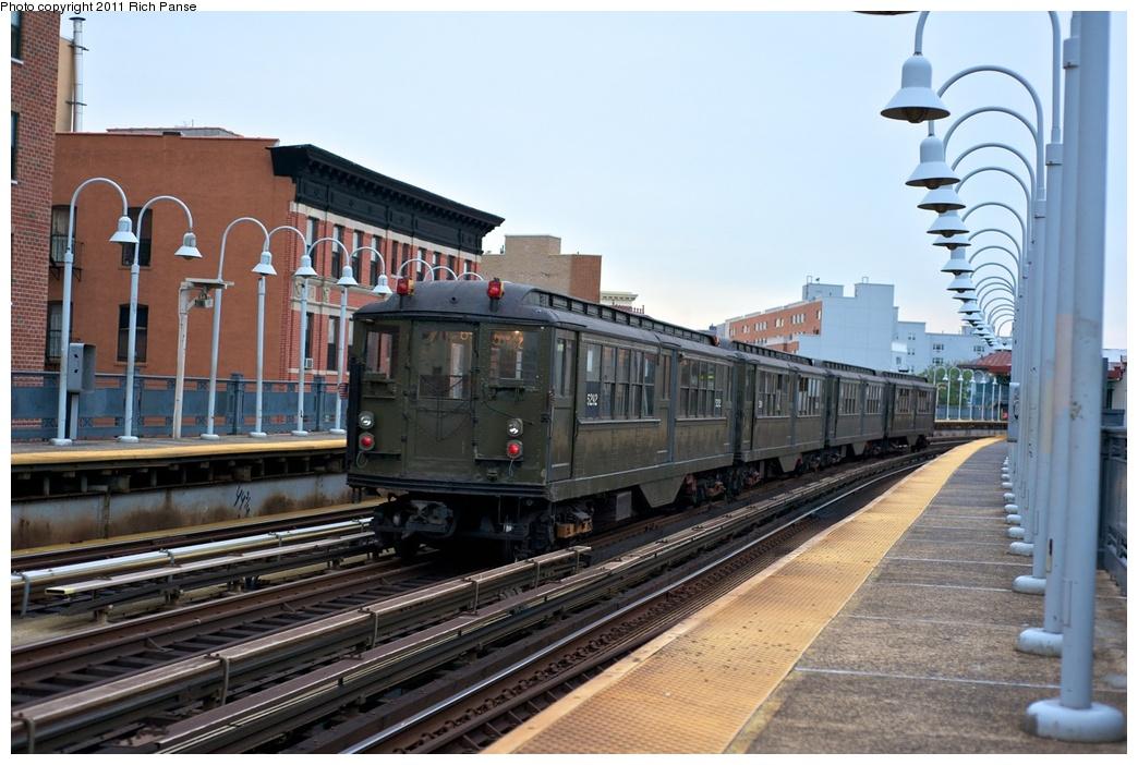(267k, 1044x702)<br><b>Country:</b> United States<br><b>City:</b> New York<br><b>System:</b> New York City Transit<br><b>Line:</b> IRT White Plains Road Line<br><b>Location:</b> Freeman Street<br><b>Route:</b> Fan Trip<br><b>Car:</b> Low-V (Museum Train) 5292 <br><b>Photo by:</b> Richard Panse<br><b>Date:</b> 9/25/2011<br><b>Notes:</b> Boardwalk Empire promotional service.<br><b>Viewed (this week/total):</b> 0 / 1651