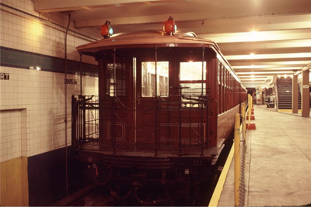 (178k, 1024x683)<br><b>Country:</b> United States<br><b>City:</b> New York<br><b>System:</b> New York City Transit<br><b>Location:</b> New York Transit Museum<br><b>Car:</b> BMT Elevated Gate Car 1407 <br><b>Photo by:</b> Doug Grotjahn<br><b>Collection of:</b> Joe Testagrose<br><b>Date:</b> 9/14/1979<br><b>Viewed (this week/total):</b> 0 / 1516