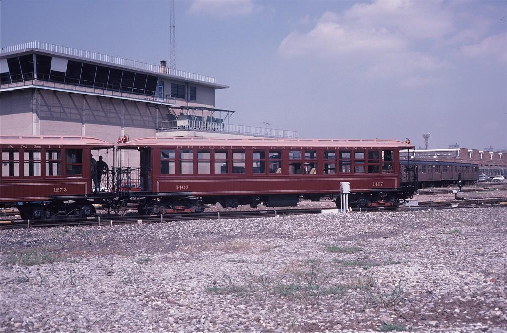 (239k, 1024x673)<br><b>Country:</b> United States<br><b>City:</b> New York<br><b>System:</b> New York City Transit<br><b>Location:</b> Coney Island Yard<br><b>Car:</b> BMT Elevated Gate Car 1407 <br><b>Collection of:</b> Joe Testagrose<br><b>Date:</b> 8/31/1979<br><b>Viewed (this week/total):</b> 1 / 818