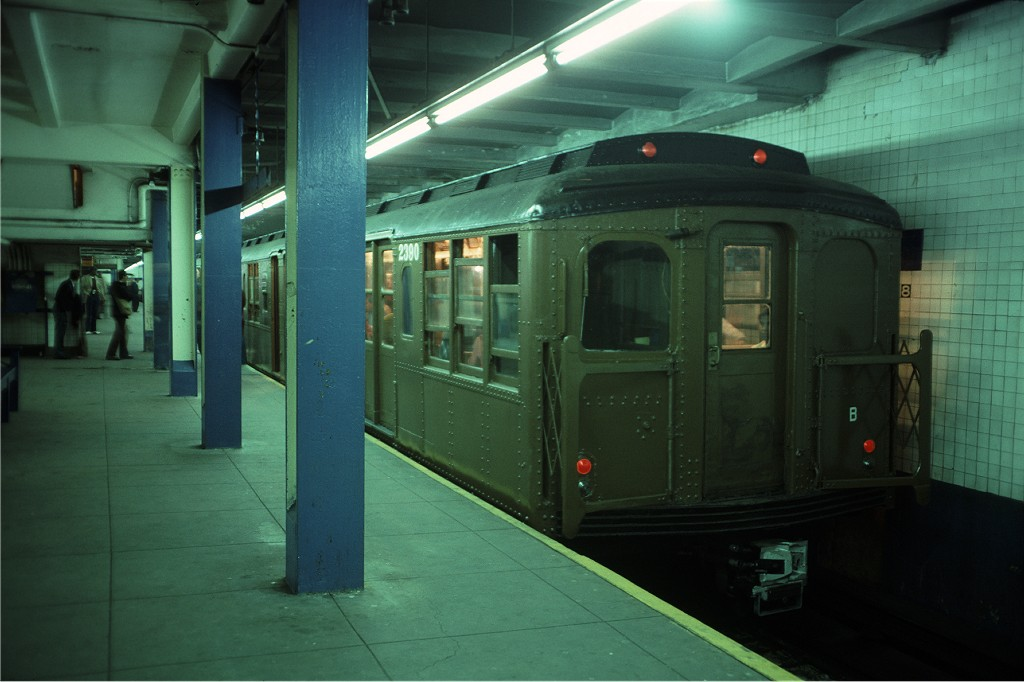 (143k, 1024x682)<br><b>Country:</b> United States<br><b>City:</b> New York<br><b>System:</b> New York City Transit<br><b>Line:</b> IND 8th Avenue Line<br><b>Location:</b> 168th Street<br><b>Route:</b> Fan Trip<br><b>Car:</b> BMT A/B-Type Standard 2390 <br><b>Photo by:</b> Doug Grotjahn<br><b>Collection of:</b> Joe Testagrose<br><b>Date:</b> 4/30/1977<br><b>Viewed (this week/total):</b> 0 / 1841